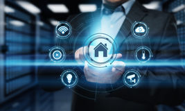 Sistema di controllo astuto di automazione della casa Concetto della rete internet di tecnologia dell'innovazione fotografie stock libere da diritti