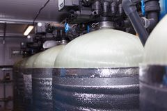 Sistema di depurazione delle acque immagine stock libera da diritti