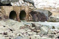 Sistema di drenaggio dell'acqua Fotografie Stock Libere da Diritti