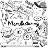 Sistema di esercizio e di fabbricazione nel assembl di produzione della fabbrica illustrazione di stock