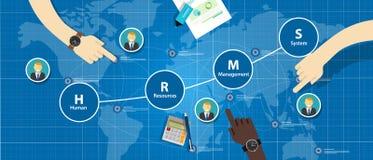 Sistema di gestione delle risorse umane di HRMS Fotografie Stock