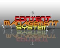 Sistema di gestione soddisfatto del Cms Fotografie Stock Libere da Diritti