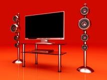 Sistema di Home Entertainment Immagine Stock Libera da Diritti