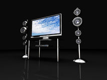 Sistema di Home Entertainment Immagine Stock