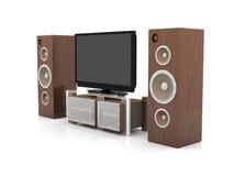 Sistema di Home Entertainment Fotografie Stock