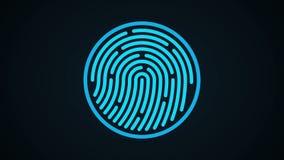 Sistema di identificazione di esame dell'impronta digitale illustrazione vettoriale