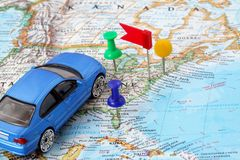 Sistema di percorso di GPS Fotografie Stock