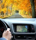 Sistema di percorso di GPS Fotografie Stock Libere da Diritti