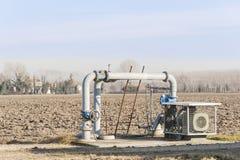 Sistema di pompaggio dell'acqua di irrigazione Fotografie Stock