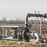 Sistema di pompaggio dell'acqua di irrigazione Immagine Stock