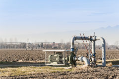 Sistema di pompaggio dell'acqua di irrigazione Immagini Stock