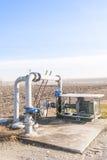 Sistema di pompaggio dell'acqua di irrigazione Fotografia Stock Libera da Diritti