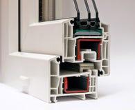 Sistema di profilo del PVC per le finestre Immagini Stock Libere da Diritti