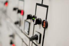 Sistema di protezione del relè Unità di controllo della baia Commutatore medio di tensione fotografie stock libere da diritti