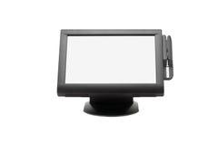 Sistema di punto di vendita dell'ampio schermo fotografia stock libera da diritti