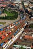 Sistema di rete del treno fotografia stock libera da diritti
