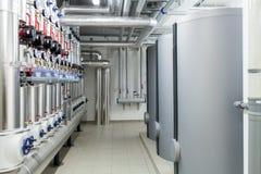 Sistema di riscaldamento efficiente moderno immagini stock