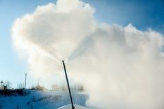 Sistema di Snowmaking artificiale Immagini Stock Libere da Diritti