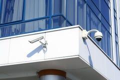 Sistema di sorveglianza della macchina fotografica il concetto di sicurezza, fotografie stock libere da diritti