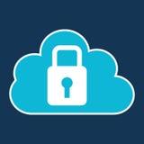 Sistema di sviluppo della serratura di codice della nuvola illustrazione vettoriale