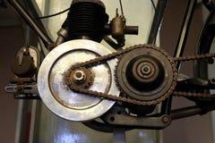 Sistema di trasmissione della catena del motociclo di Blackburne Fotografia Stock