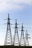 Sistema di trasmissione di elettricità Fotografia Stock Libera da Diritti