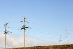 Sistema di trasmissione di elettricità Fotografie Stock