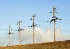 Sistema di trasmissione di elettricità Immagine Stock Libera da Diritti