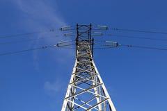Sistema di trasmissione di elettricità Immagine Stock