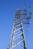 Sistema di trasmissione di elettricità Fotografia Stock