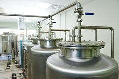 Sistema di trattamento di acqua farmaceutico Fotografia Stock
