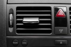 Sistema di ventilazione dell'automobile con parecchi tasti Fotografia Stock Libera da Diritti