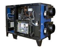 Sistema di ventilazione industriale fotografia stock