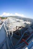 Sistema di ventilazione industriale, tetto della pianta Fotografia Stock Libera da Diritti