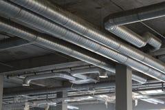 Sistema di ventilazione installato immagini stock libere da diritti