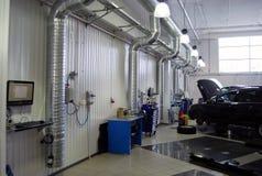 Sistema di ventilazione nel distributore di benzina Fotografia Stock Libera da Diritti