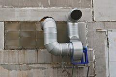 Sistema di ventilazione sulla parete Immagine Stock Libera da Diritti