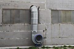 Sistema di ventilazione sulla parete Fotografie Stock Libere da Diritti