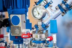 Sistema di vetro di base del reattore per il pilota Plants fotografia stock