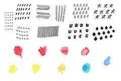 Sistema dibujado mano de elementos Un zoquete del negocio Bosquejo drenado mano Imágenes de archivo libres de regalías