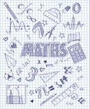Sistema dibujado mano de las matemáticas Imagen de archivo