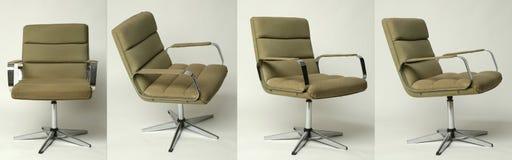 Sistema diseño de la silla de la oficina del viejo Fotografía de archivo libre de regalías