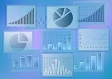 Sistema diverso de diagramas abstractos del negocio Crecimiento Imagen de archivo