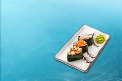 Sistema diverso del rollo de sushi Fotografía de archivo libre de regalías