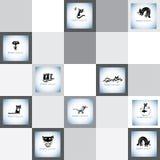 Sistema divertido del logotipo del vector de los gatos Imagen de archivo libre de regalías
