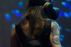 Sistema do DJ da realidade virtual durante o verão da expo de VRLA Foto de Stock Royalty Free