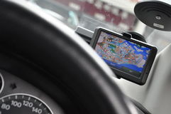 Sistema do GPS do veículo Imagem de Stock Royalty Free