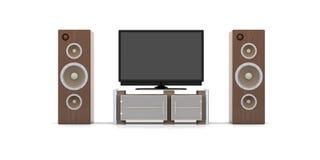 Sistema do home entertainment ilustração do vetor