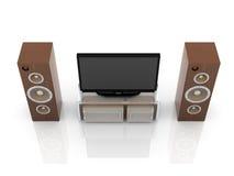 Sistema do home entertainment ilustração stock
