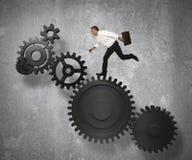 Sistema do mecanismo do negócio Imagens de Stock Royalty Free
